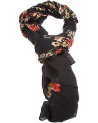 Dolce & Gabbana Floral Scarf - Lyst