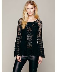 Free People Ruffled Whimsy Top - Lyst