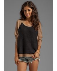 Free People Tabbard Pullover Sweater in Black - Lyst