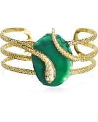 Isharya - Green Serpent Druzy Wire Cuff - Lyst