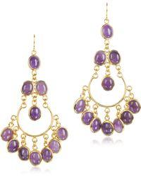 Isharya - Green Agate Gypsy Earrings - Lyst