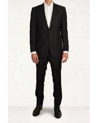 Mr Start Leonard Navy Wool Textured Suit - Lyst