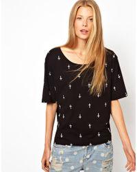 A Question Of - Organic Crosses Tshirt - Lyst