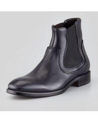 John Varvatos Fleetwood Leather Chelsea Boot - Lyst