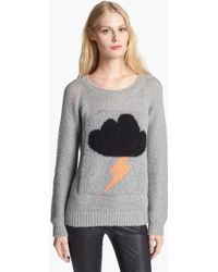 Elizabeth And James Raincloud Intarsia Knit Sweater - Lyst
