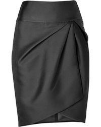Giambattista Valli Silk Blend Draped Skirt - Lyst