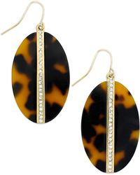 Lauren by Ralph Lauren - Gold-Tone Oval Tortoise Disc Drop Earrings - Lyst