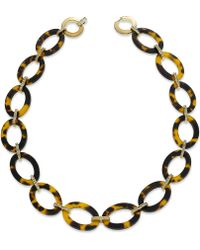 Lauren by Ralph Lauren - Goldtone Ovalshaped Tortoise Link Necklace - Lyst
