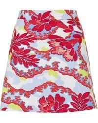 Topshop Floral Print Aline Skirt - Lyst