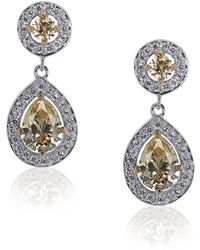 Carat* - Fancy Yellow Duo Drop Pear Earrings - Lyst