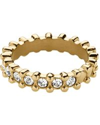 Dyrberg Kern Gafa Shiny Gold Crystal Ring - Lyst