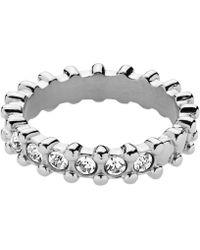 Dyrberg Kern Gafa Shiny Silver Crystal Ring - Lyst