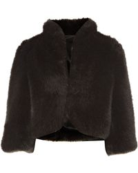 Untold Short Fur Coat - Lyst