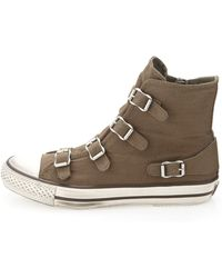Ash Canvas Buckled Hitop Sneaker - Lyst