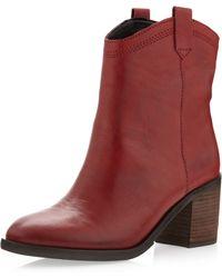 Boutique 9 - Curan Short Boot Dark Red - Lyst