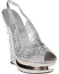 Gianmarco Lorenzi - Crystal Wedge Shoe - Lyst