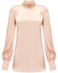Giles Pale Pink Studded Blouse - Lyst