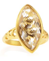 Indulgems - Rock Crystal Marquisecut Ring - Lyst