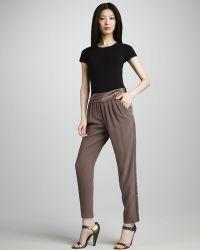 J. Mendel Contrast-Stripe Silk Pants - Lyst
