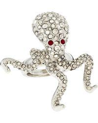 Kenneth Jay Lane - Rhinestone Pave Octopus Ring - Lyst
