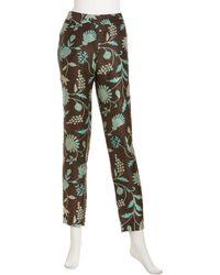 Lafayette 148 New York Floralprint Slimcut Pants - Lyst