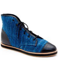Loeffler Randall Octavia High Top Sneaker blue - Lyst