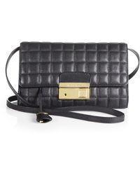 Michael Kors Quilted Leather Clutch - Lyst
