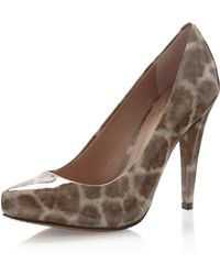 Vince Camuto King Giraffeprint Pump Taupe - Lyst