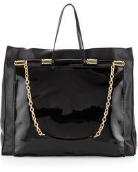 Z Spoke by Zac Posen - Samantha Patent Tote Bag Black - Lyst