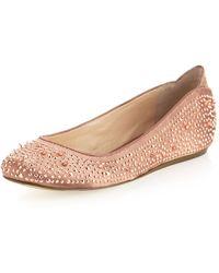 Sam Edelman Jolie Studded Ballet Flat Dusty Rose 5 - Lyst