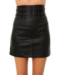 Tripp Nyc - The Faux Leather Pencil Skirt - Lyst