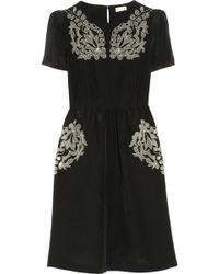 Collette by Collette Dinnigan | Embroidered Silk Dress | Lyst