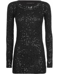 Donna Karan New York Sequin Cashmere Top - Lyst