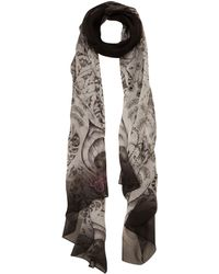 Emma J Shipley - Black Amazon Print Chiffon Scarf - Lyst