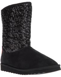 Love Moschino - Sequined Midcalf Boot - Lyst