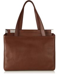 Maison Margiela Brown Leather Tote Bag - Lyst