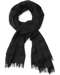 Rag & Bone Airway Scarf Black - Lyst