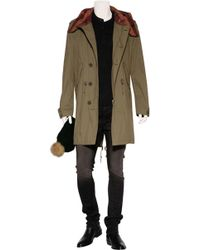 Burberry Brit | Military Green Cotton-Blend Hathaway 3/4 Length Coat | Lyst