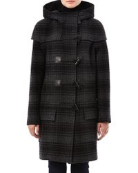 Christopher Raeburn - Check Wool Duffel Coat - Lyst