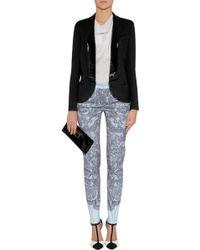 Emilio Pucci Black Wool-Silk Embellished Tuxedo Jacket - Lyst