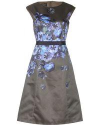 Giambattista Valli Printed Satintwill Dress - Lyst
