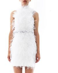 Jason Wu Ostrich Feather Mini Dress - Lyst