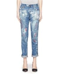 J.Crew Collection Vintage Printed Straight Jeans - Lyst