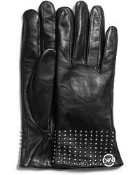 Michael Kors - Michael Studcuff Leather Gloves - Lyst