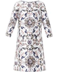 Prabal Gurung Embroidered Panelled Dress white - Lyst