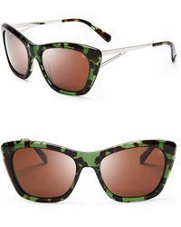 Rebecca Minkoff - Waverly Cat Eye Wayfarer Sunglasses - Lyst