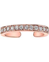 Anita Ko Rose Gold Ear Cuff With Diamonds Rose Gold Ear Cuff With Diamonds - Lyst
