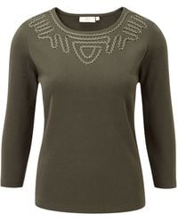 Cc Lurex Applique Jersey Top - Lyst