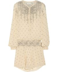 Etoile Isabel Marant Risha Printed Silk-chiffon Dress - Lyst