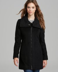 Laundry by Shelli Segal - Coat Soft Lux Zip - Lyst